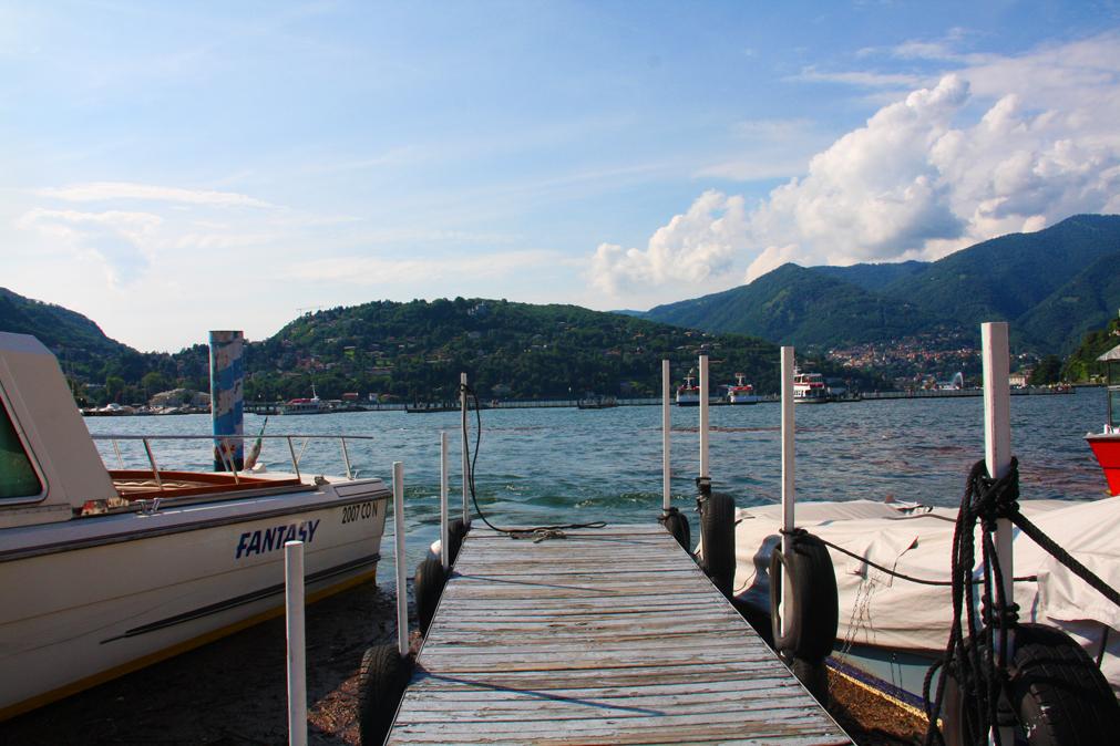 Sun shining down on Lake Como