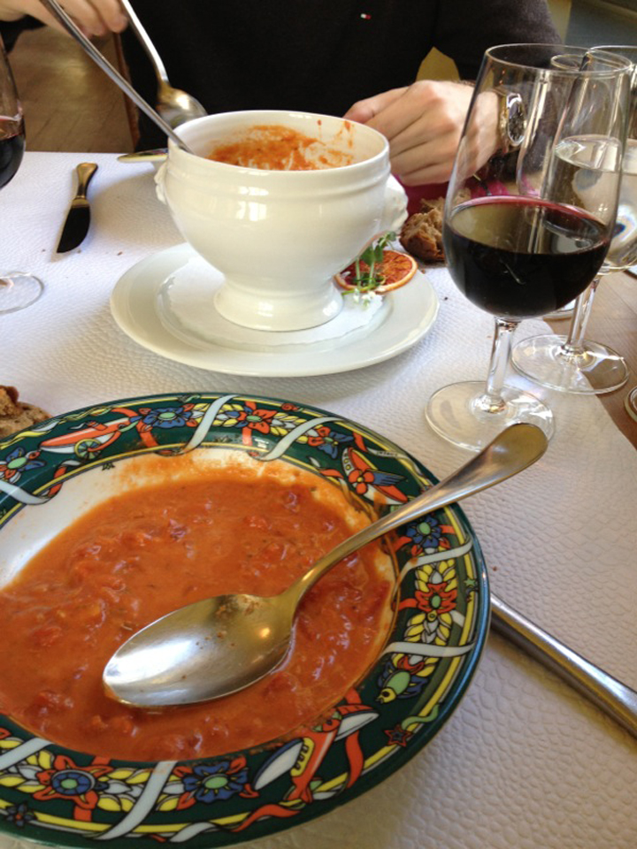 Tomato soup at Stadthaus in Nidau