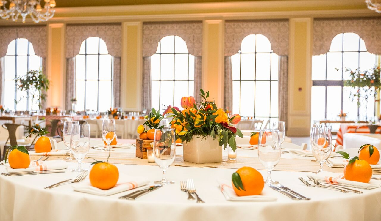 orange tables