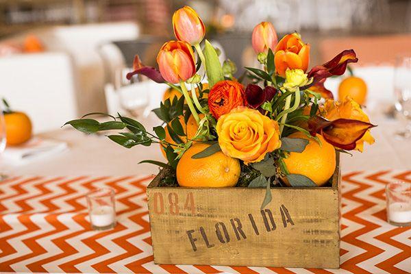 orange boxes flowers