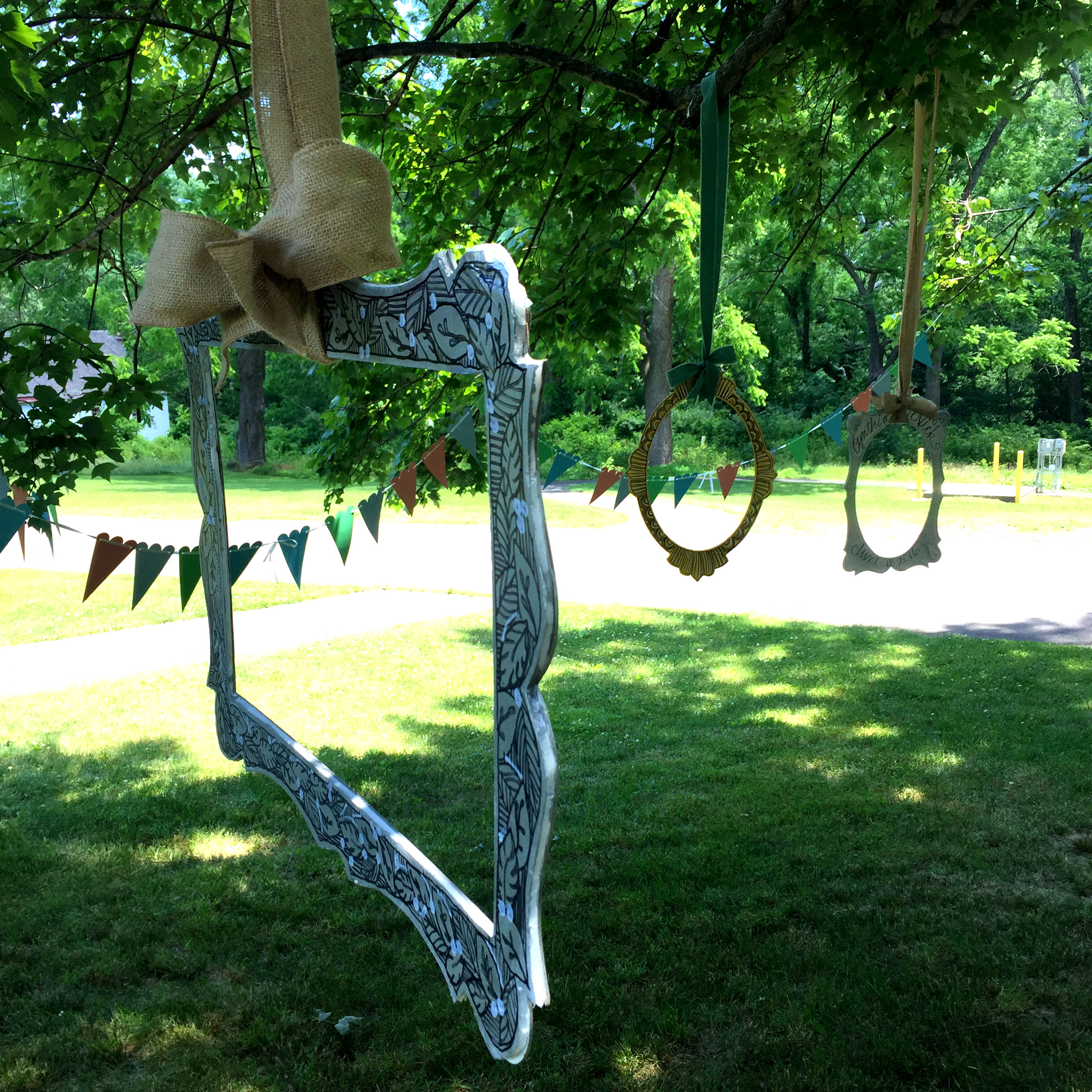 outdoor wedding swings