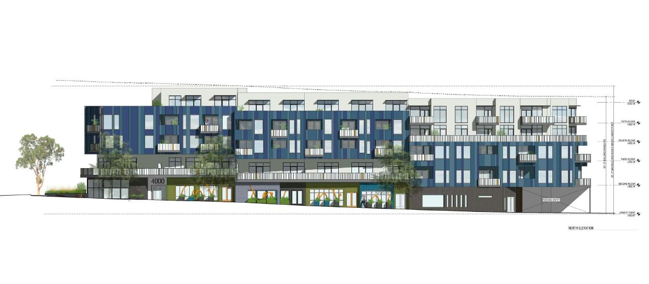4000 Sunset Blvd - Site 1 - 5 stories - 68 feet - 84 units
