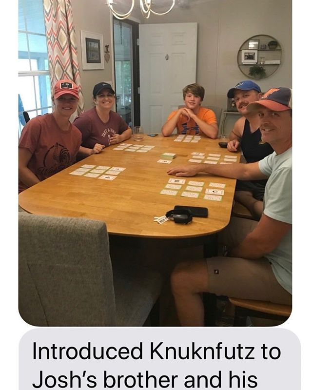 Get your #Knuknfutz on #Amazon. #Challenging #game full of # luck and #strategy. Thanks for the picture Harmony!  Such fun!