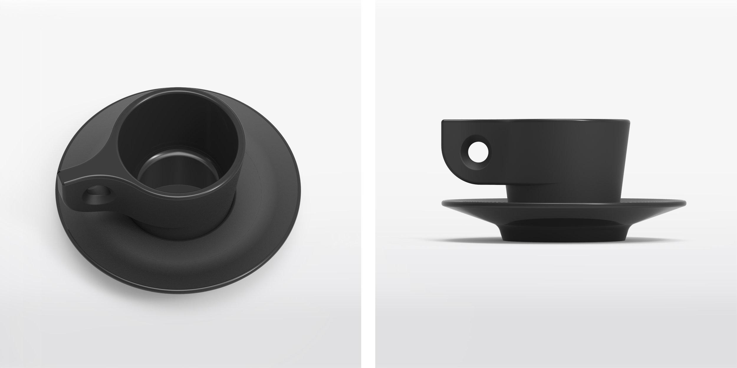Matte black variation with alternating polished/unpolished surfaces.