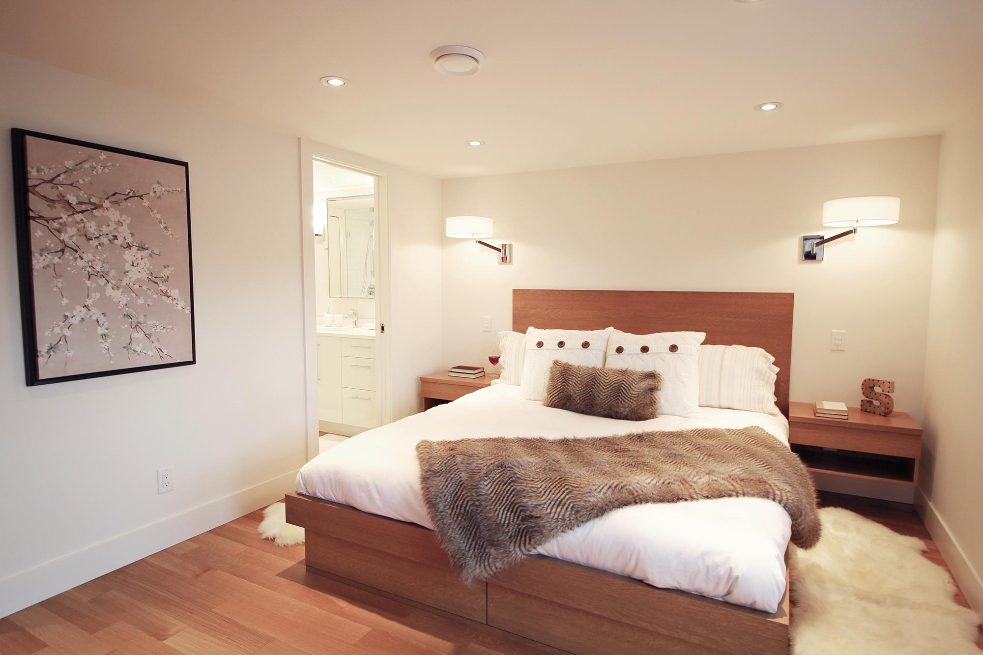 Custom Oak Platform Beds