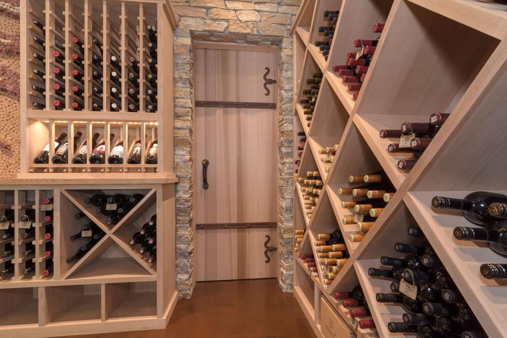 Cedar Wine Display