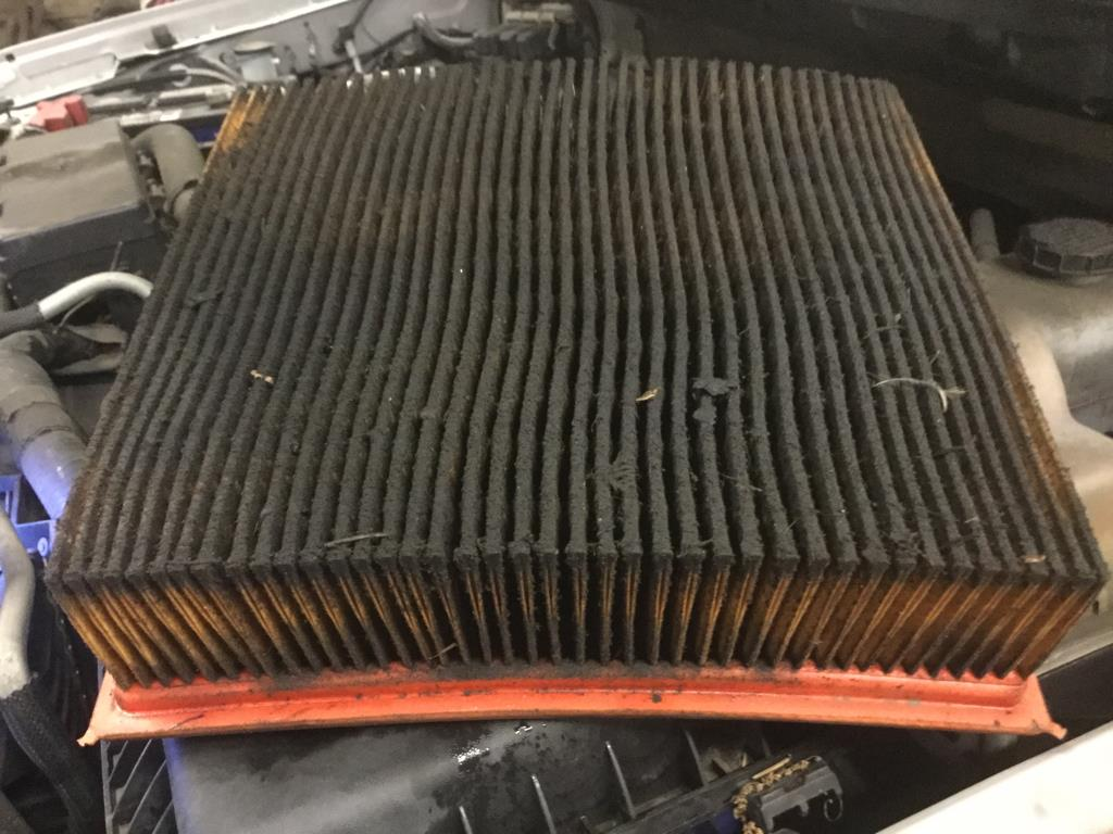 Engine air filter diagnosed with breathing disorder. -