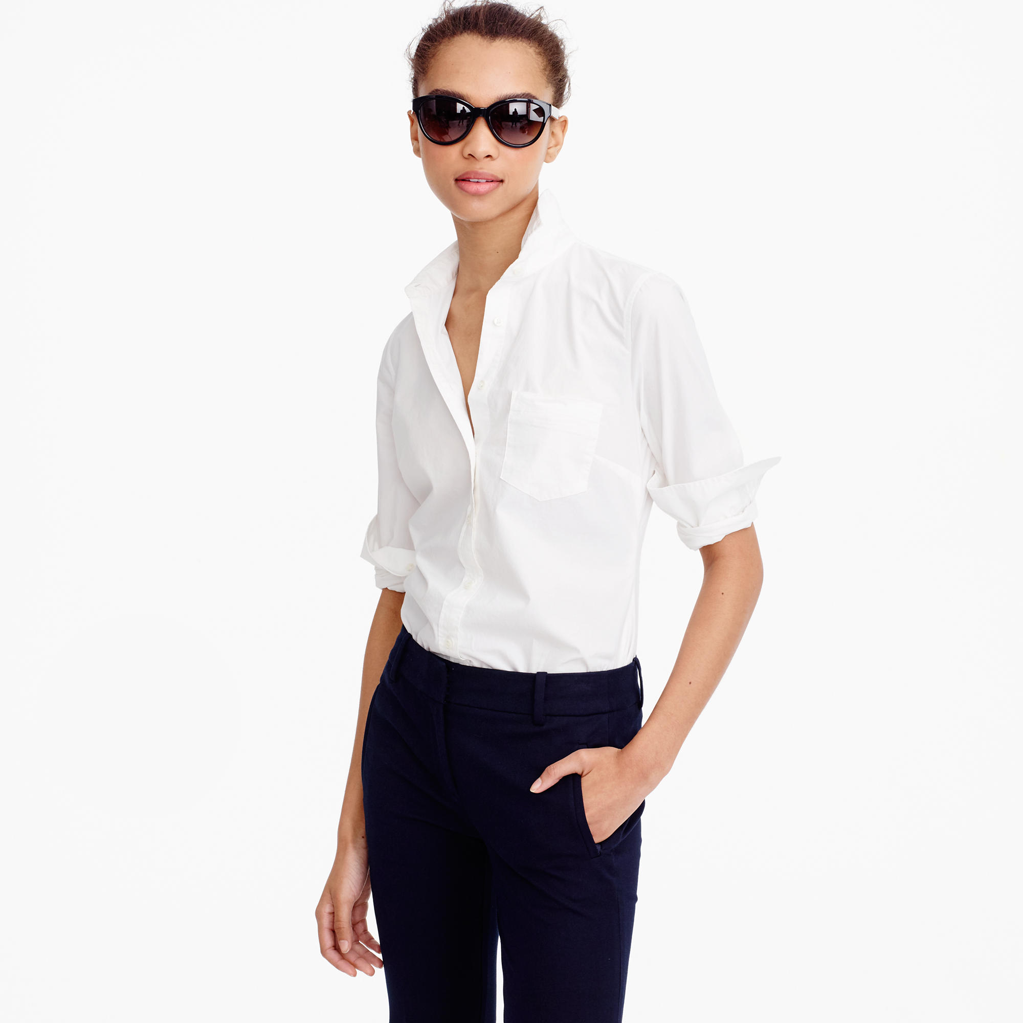 New Perfect Shirt in Cotton Poplin  by  J.Crew , £69.50