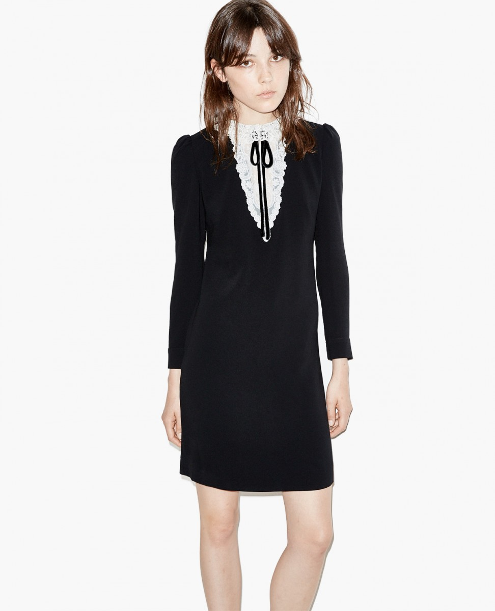 The Kooples Shirt Dress with Lace Panel.jpg