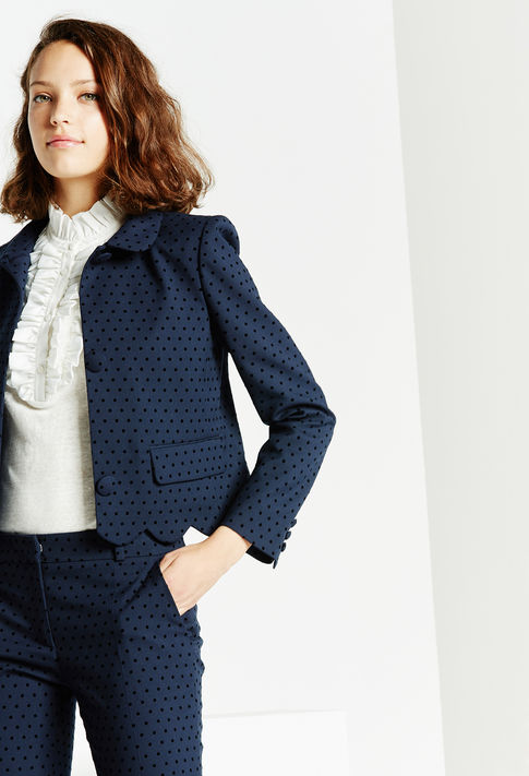 Claudie Pierlot   Versailles Blazer , £189 (used to be £315) -  absolutely perfect for work but also incredibly cute over a pair of jeans and worn with a white tee or shirt navy/black is just the chic-est combo