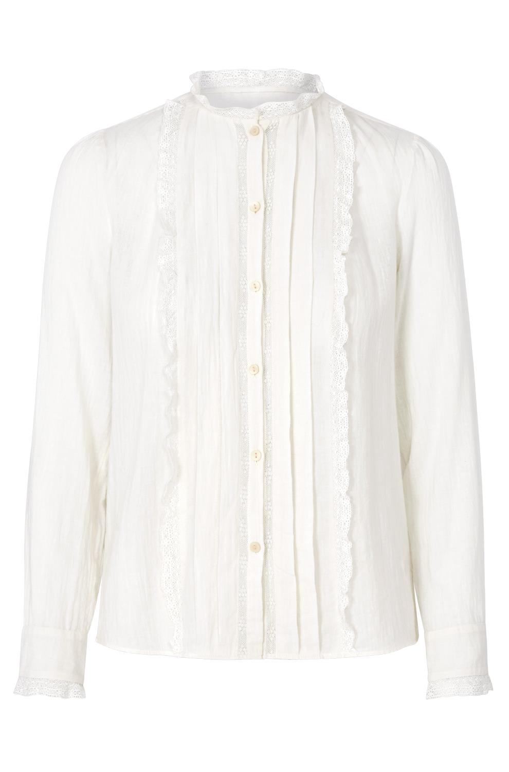 Rebecca Taylor La Vie   Long Sleeve Gauze Lace Top in chalk, £95 (used to be £175) -  I have never regretted buying white victorian style (ok, let's say inspired)lace. You can never go wrong with that sort of shirt, tux style at work or with blue flared denims during the weekends.