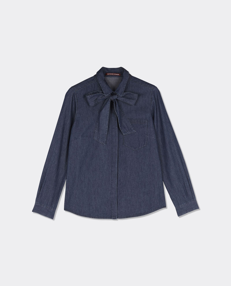 Comptoir des Cotonniers   Denim Shirt with Tie Collar , £57 (used to be £95) -  Love a pussy bow on everything and this denim shirt is pretty cool worn with a mini skirt, shorts or a pair of jeans. Easy wear...