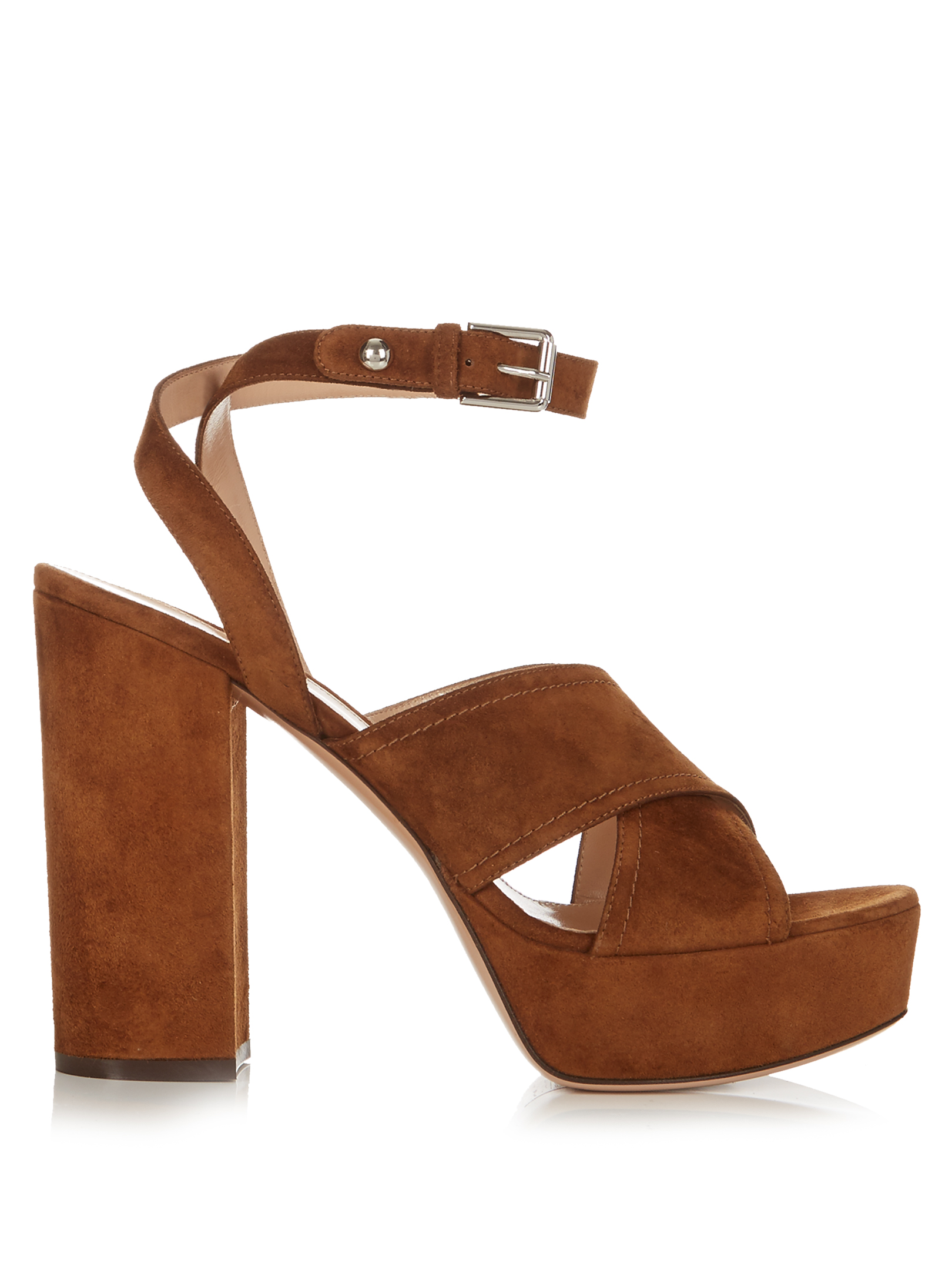 Gianvito Rossi   Suzie Suede Platform Sandals , £327 (used to be £545) -  the most comfortable shoes I have ever worn no matter how high the heel, worth the investment and this particular style can be worn in all seasons (and would work wonders with the See By Chloé flared jeans for example...)