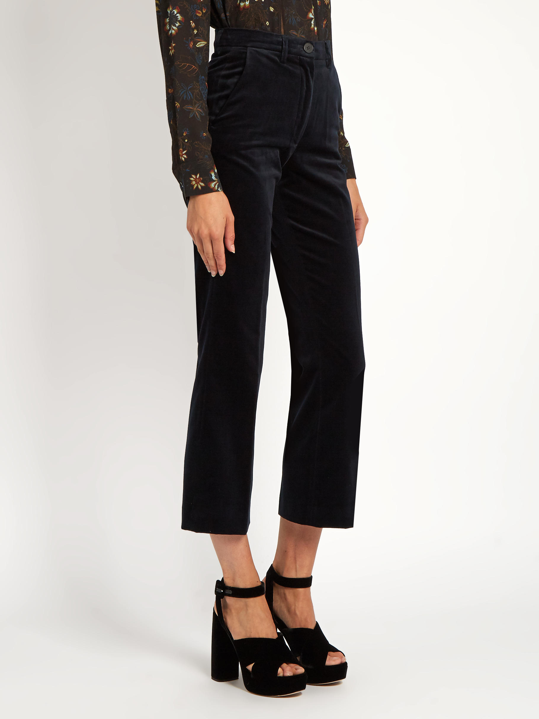 M.I.H Jeans   Coler High Rise Cropped Velvet Flared Trousers , £147 (used to be £245) -  My other favourite jeans brand although these are not technically jeans, I know. But anyway, MIH Jeans have the greatest cuts and the most comfortable jeans (along with JBrand) and velvet, cropped and flared is just so perfect.