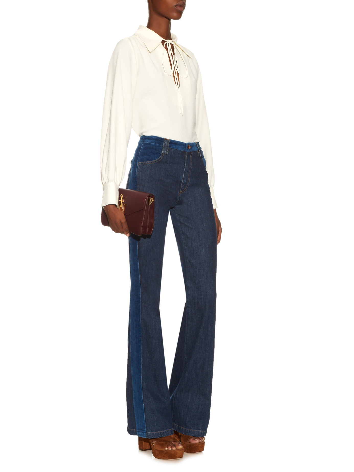 See By Chloé   Mid Rise Flared Jeans , £135 (used to be £225) -  Have been in love with those romantic flares for a while now but have bought a similar style from MIH a while ago so trying to be good...