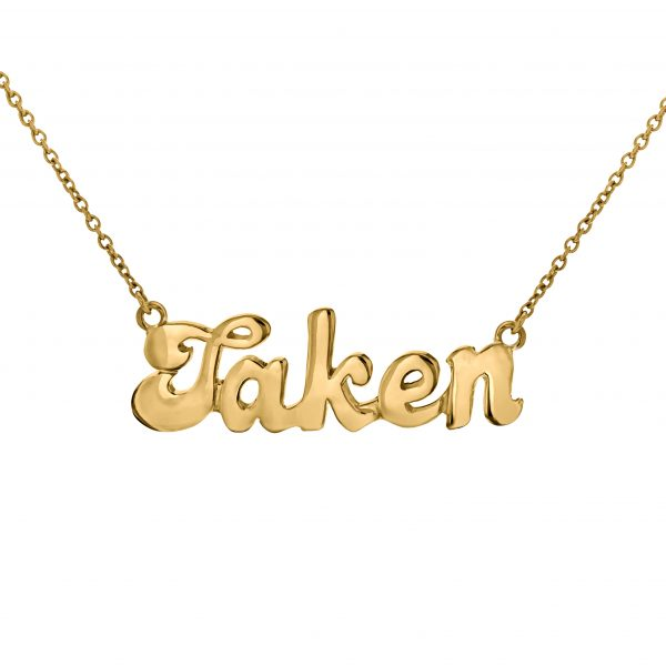 True Rocks   'Taken' Status Necklace , £195 -  totally rocks, right?