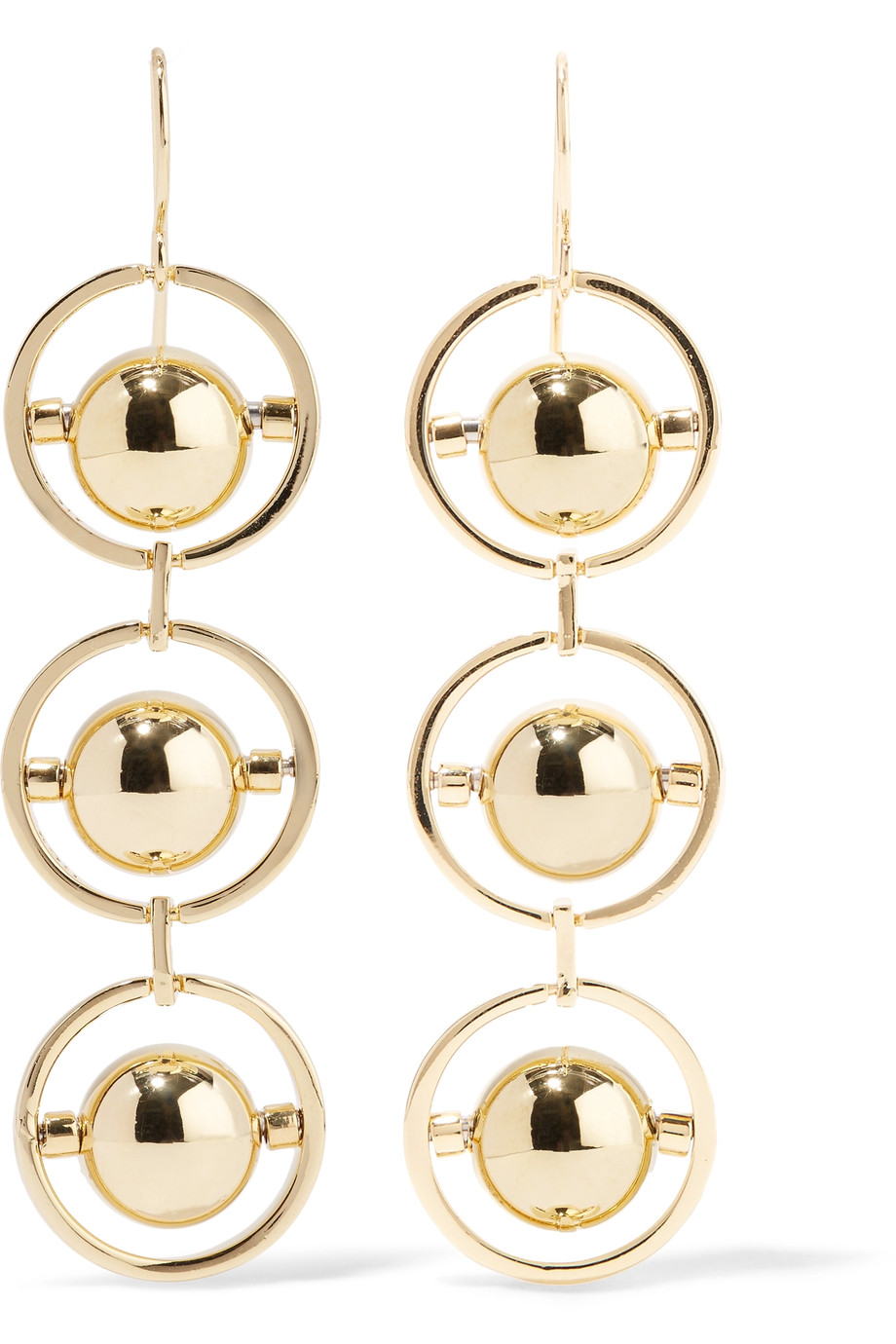 Noir Jewelry   Perigee Gold Tone Earrings , £32.50 on The Outnet -  super classy yet not too mushy