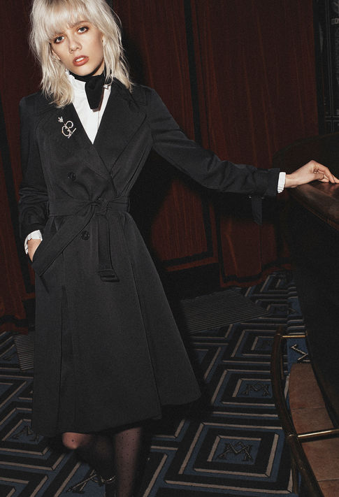 Claudie Pierlot ,  Garden Trench , £210 (half price) -  Close to being the perfect cool rock Parisian style.