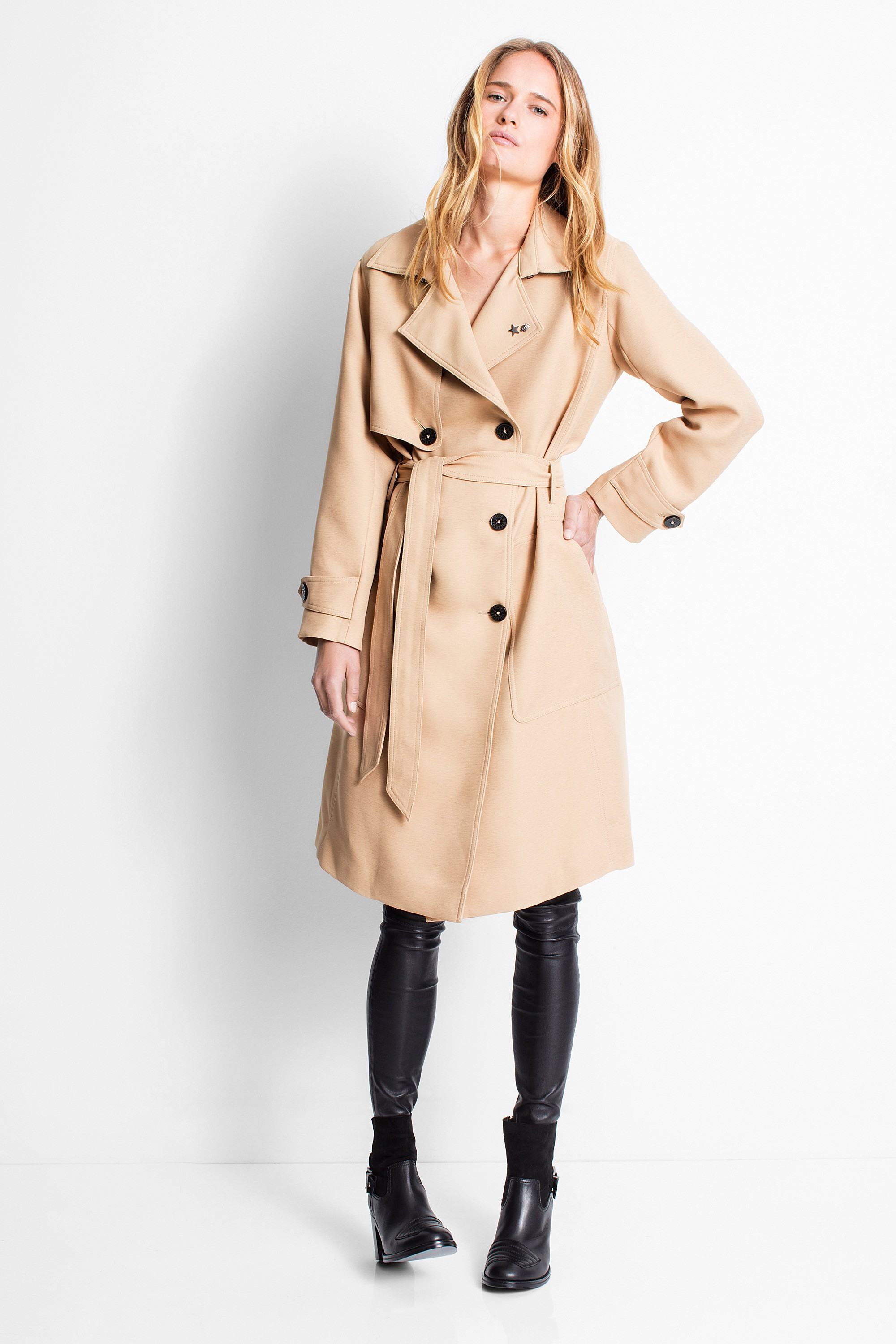 Zadig & Voltaire ,  Mai Deluxe Trench , £222 (half price)
