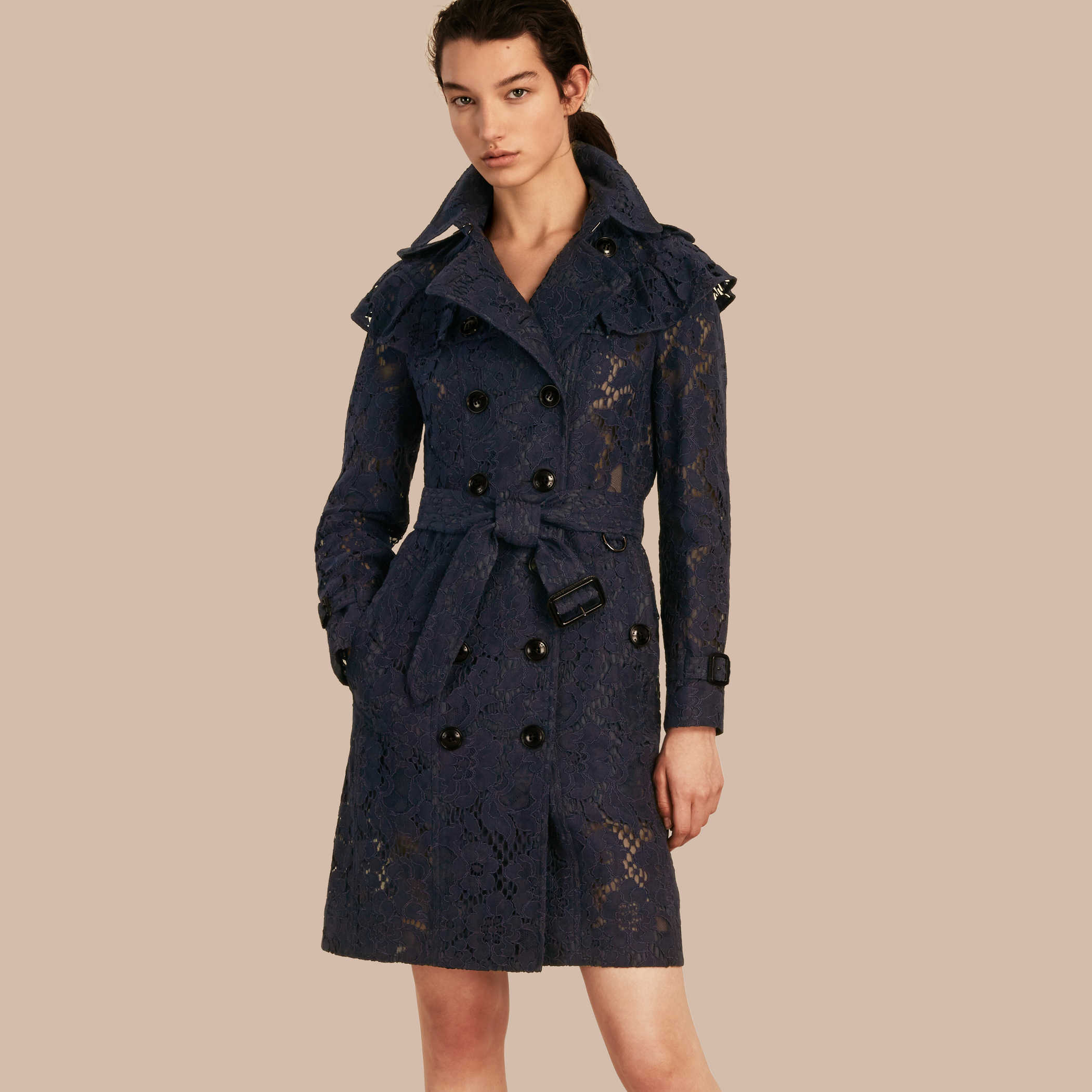 Burberry  Ruffle Detail Macramé Lace Trench Coat , £1,995 -  Not even on sale so for the eyes only but you must admit, what a beauty! Burberry still totally owns the trench!
