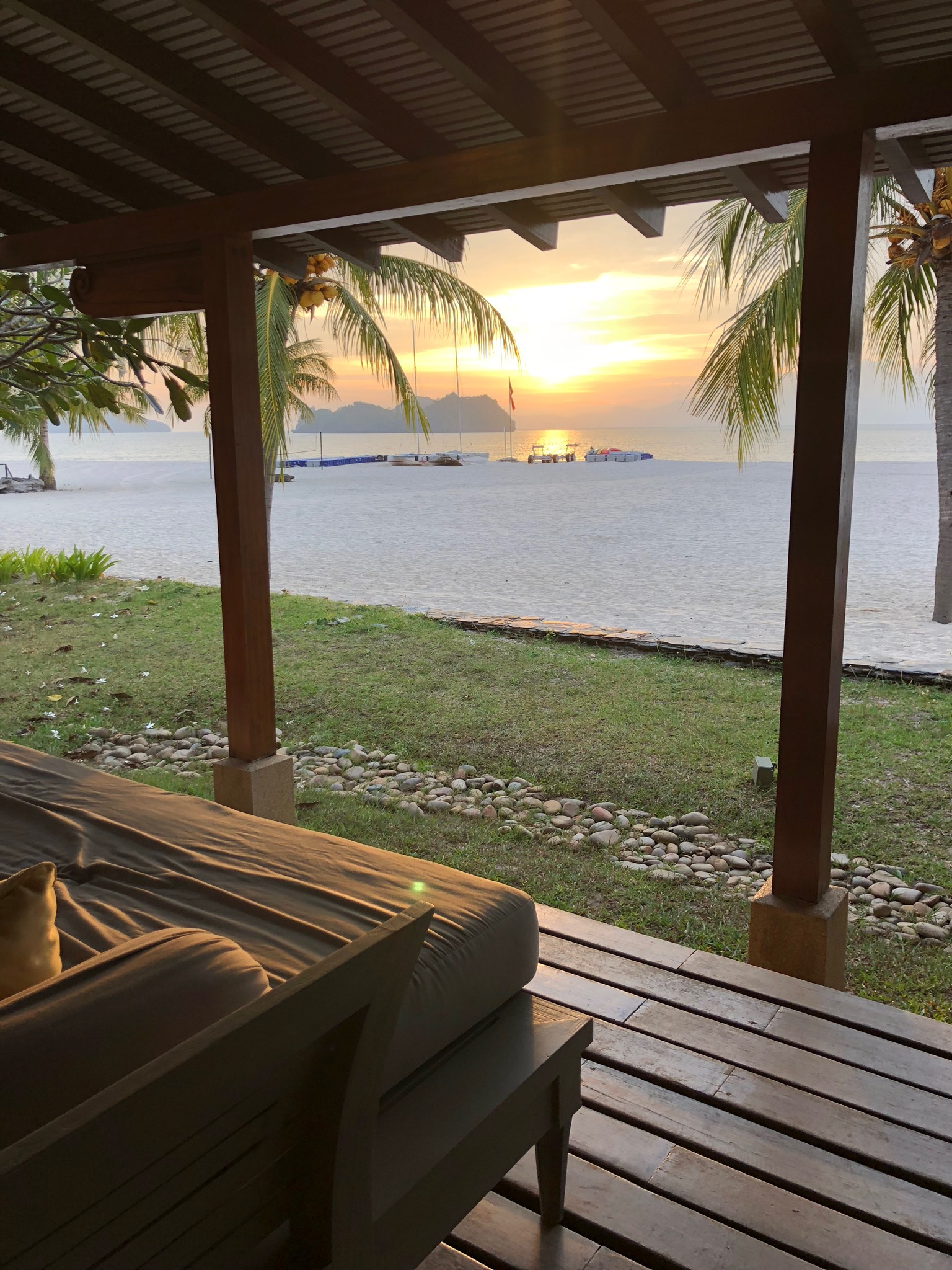Sundeck from the beachfront villas, best place for an evening drink