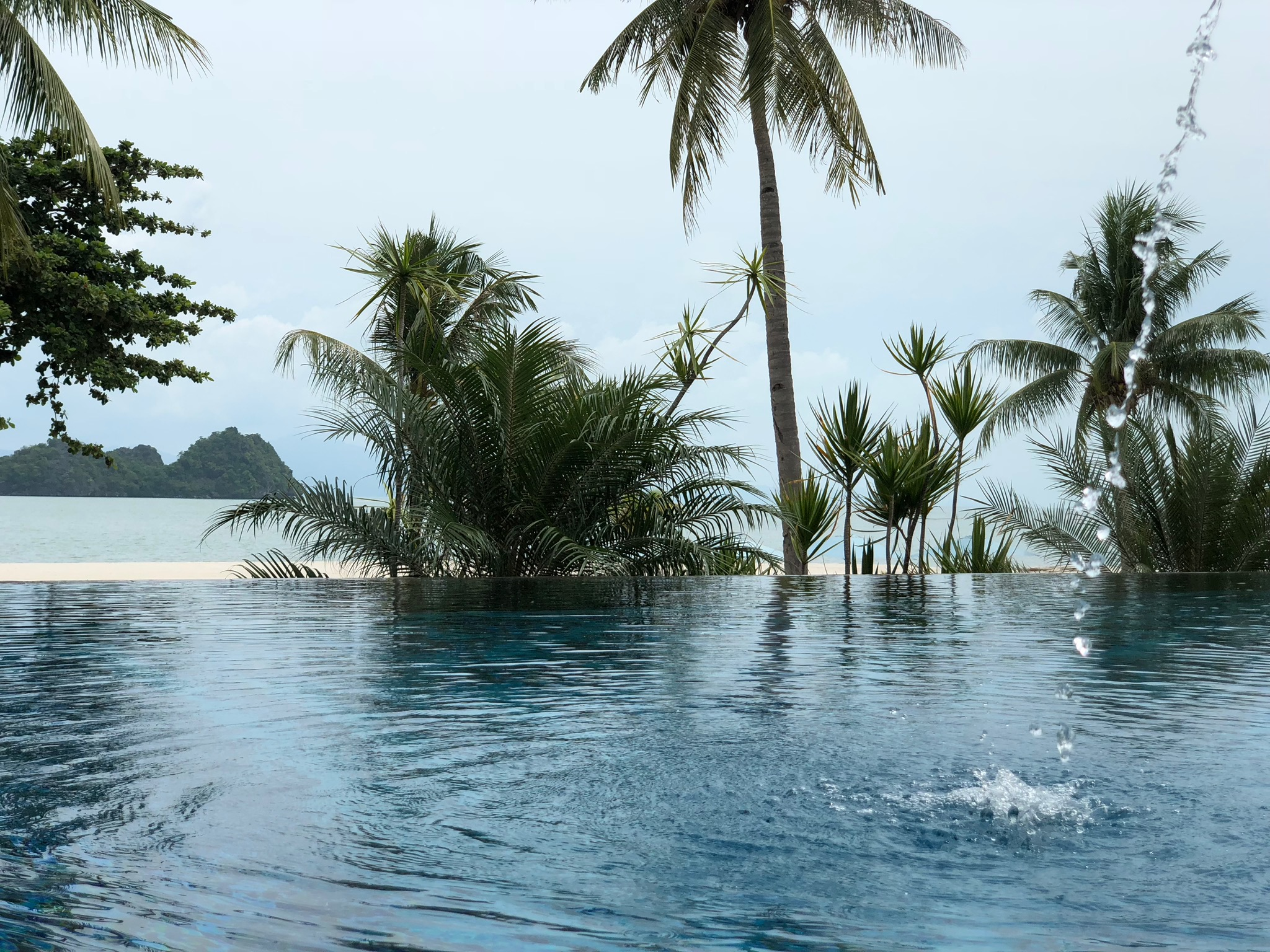 Overlooking the beach and the Andaman sea