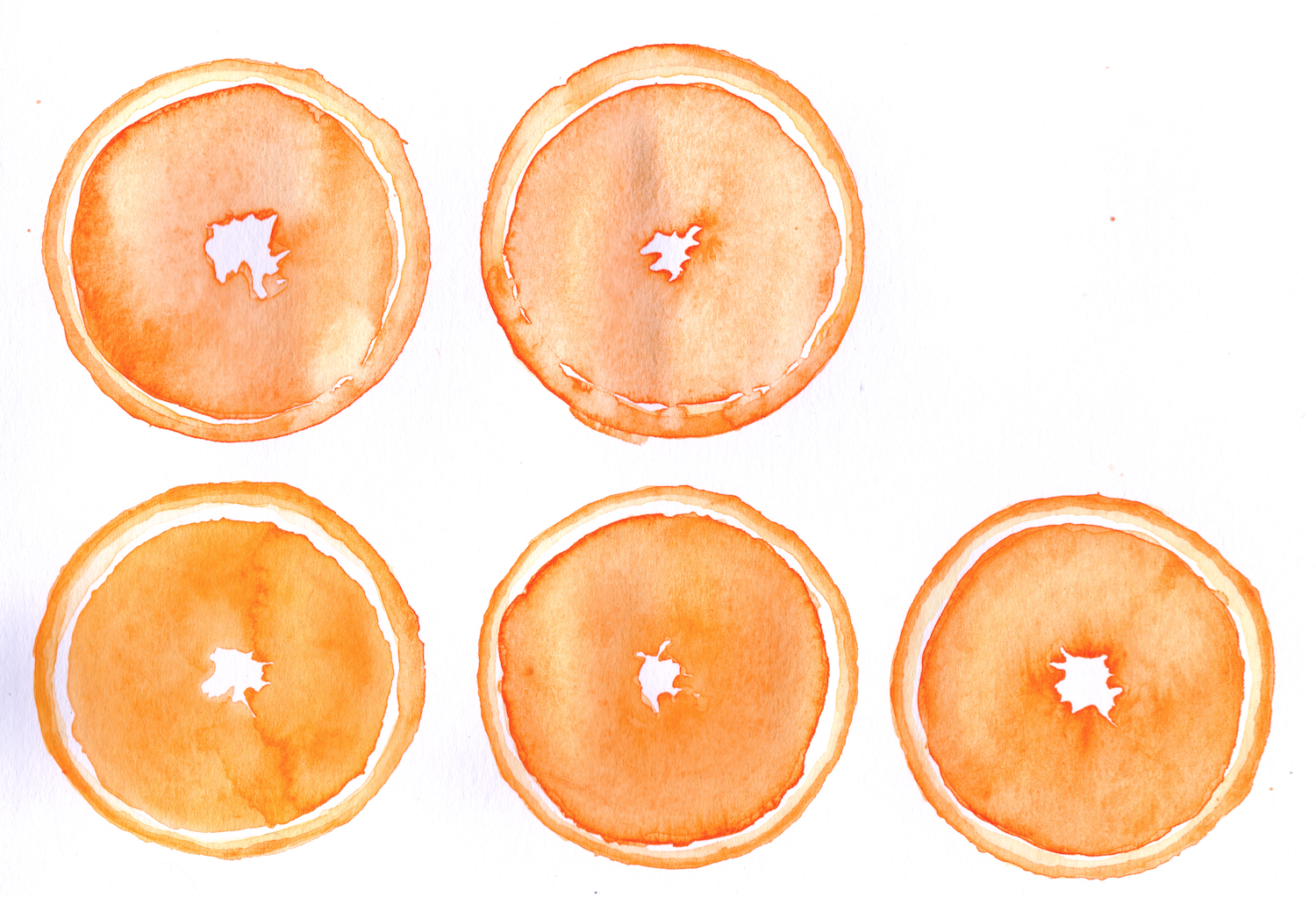 food watercolor illustration pattern
