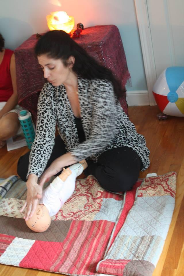 Michelle Emanuel teaches a TummyTime! class