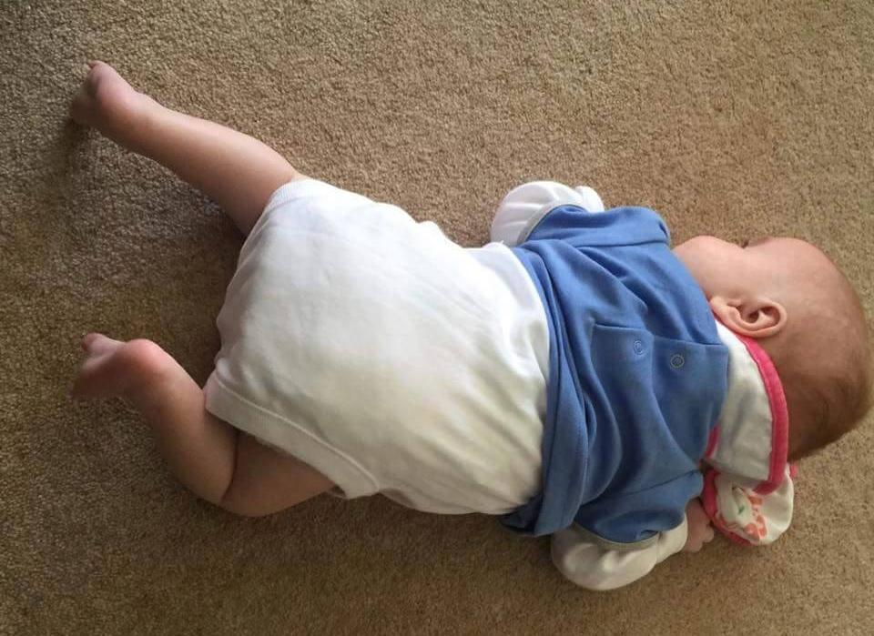 Newborn working through Tummy Time