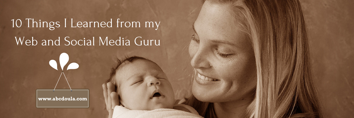 A postpartum doula finds support from an SEO expert for her business.