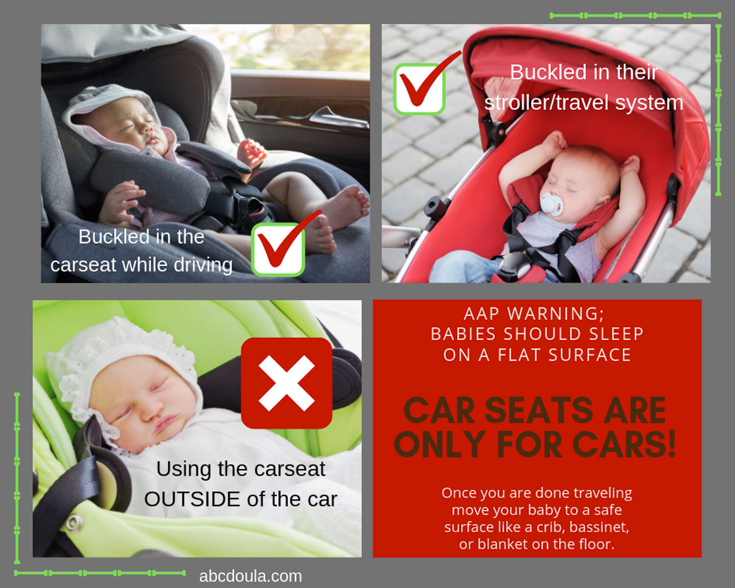 Carseat Safety Abc Doula Newborn Care