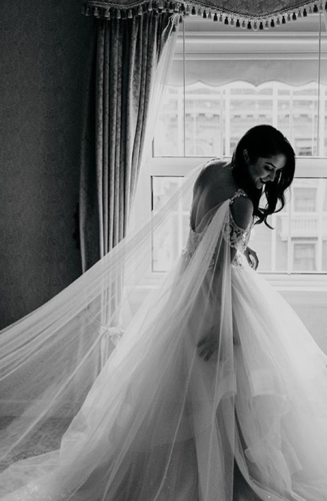 Bridal Cape, Cape Veil, Wedding Veil, Cathedral Veil Cape, Champagne and GRIT