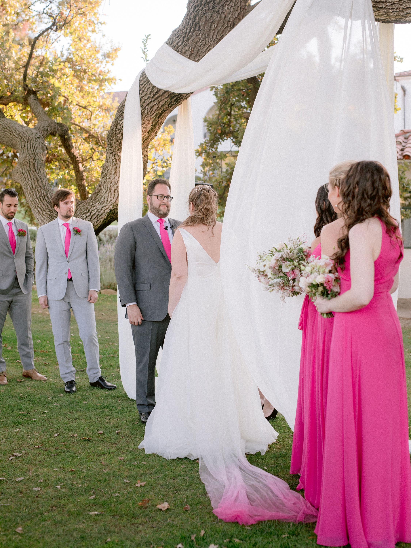 Magenta veil, Ombre Bridal Wedding Veil, Ombre pink cape, Bridal Cape Veil, Champagne and GRIT.jpg