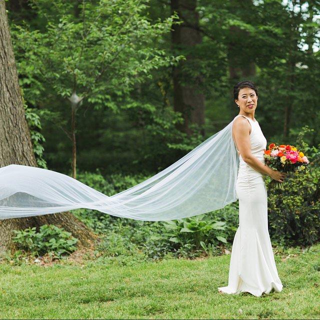 Bridal Cape veil, Wedding Cape, detachable train Champagne and GRIT (7).jpg
