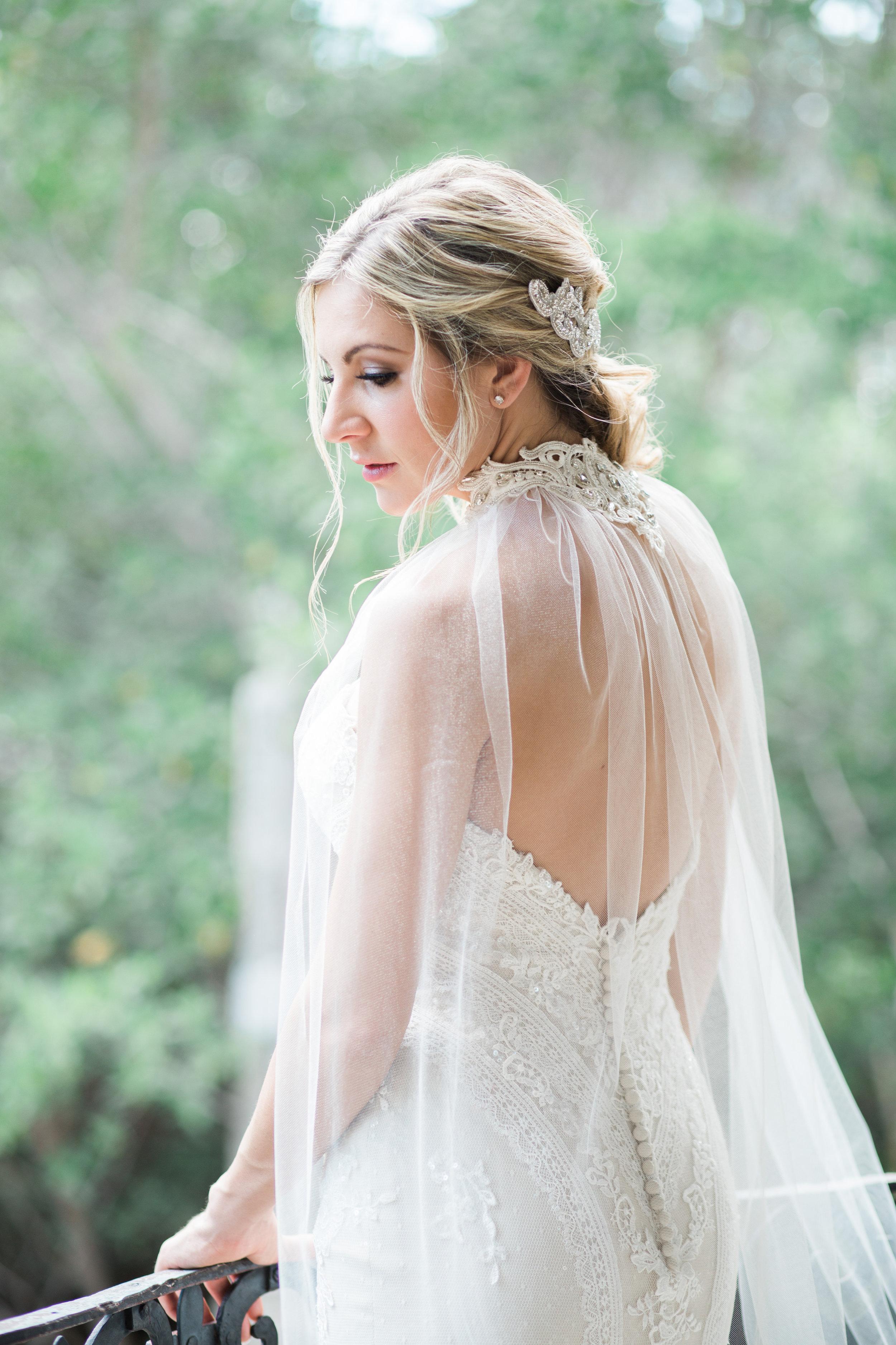 Vizcaya Wedding, South Florida Bride, Bridal Cape, Wedding Cape Veil Champagne and GRIT - Copy.jpg