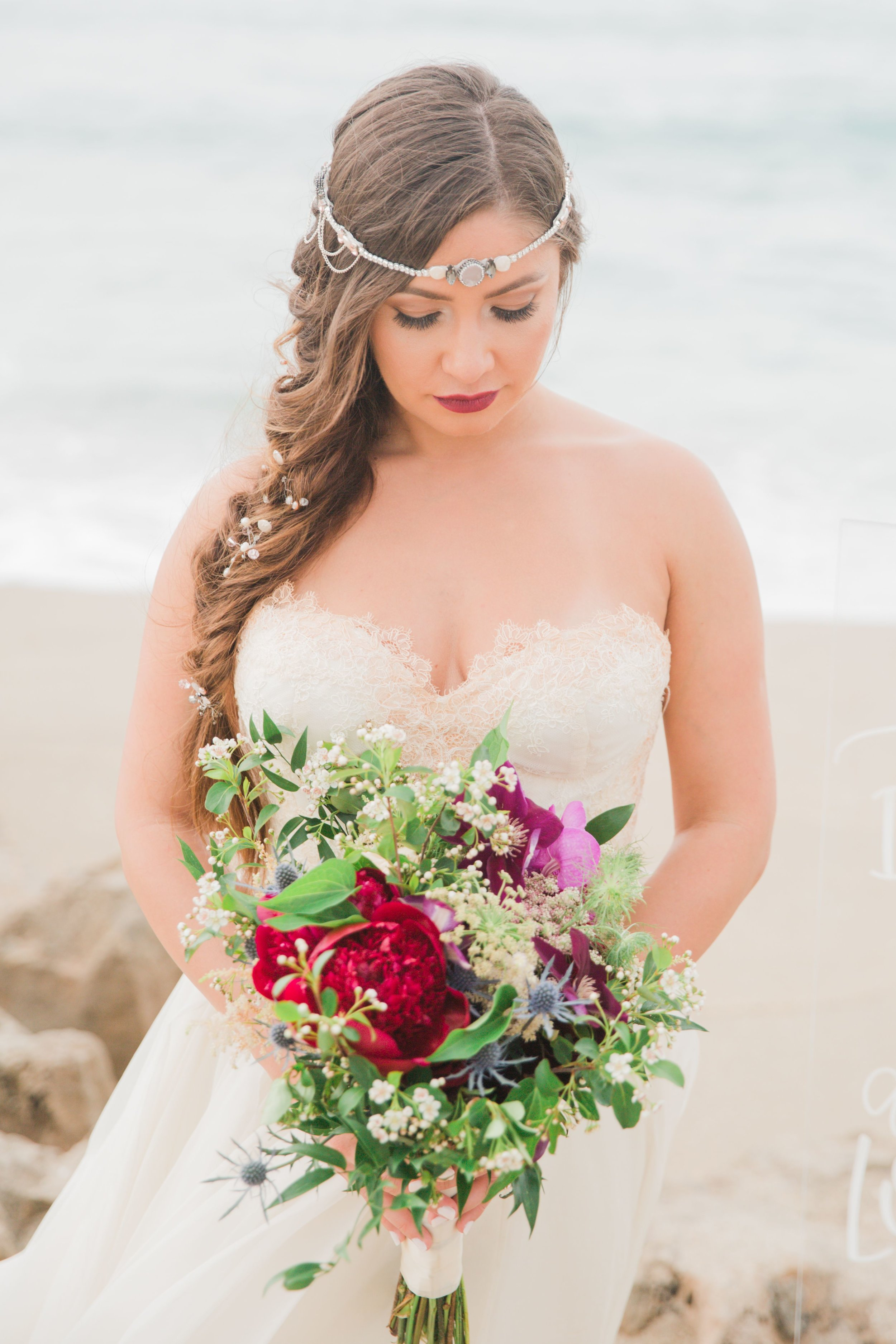 Boho Bridal halo, Crytal bridal Halo, Wedding Hair accesorries, Champagne and GRIT - Copy.jpg
