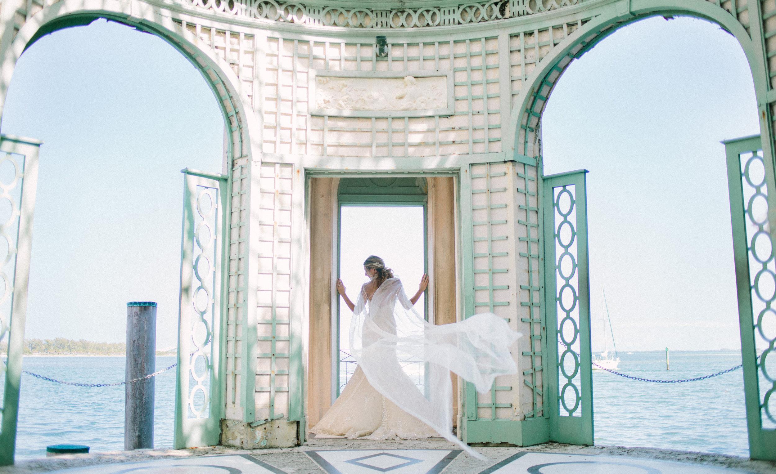 vizcaya Bride, Vizcaya Wedding, bridal Cape, Wedding Veil Cape, Bridal cape Veil, Champagne and GRIT - Copy.jpg