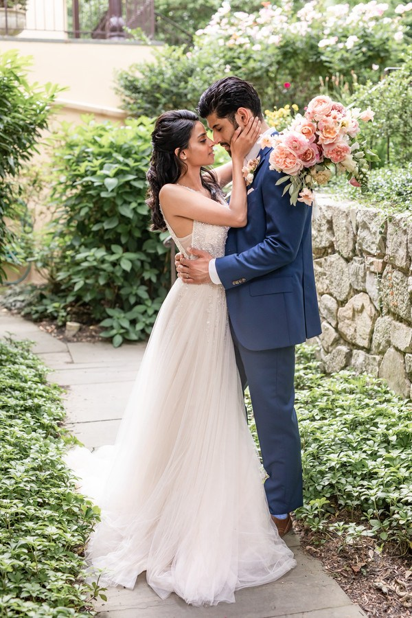 Champagne and grit Pomme Radnor - blush wedding