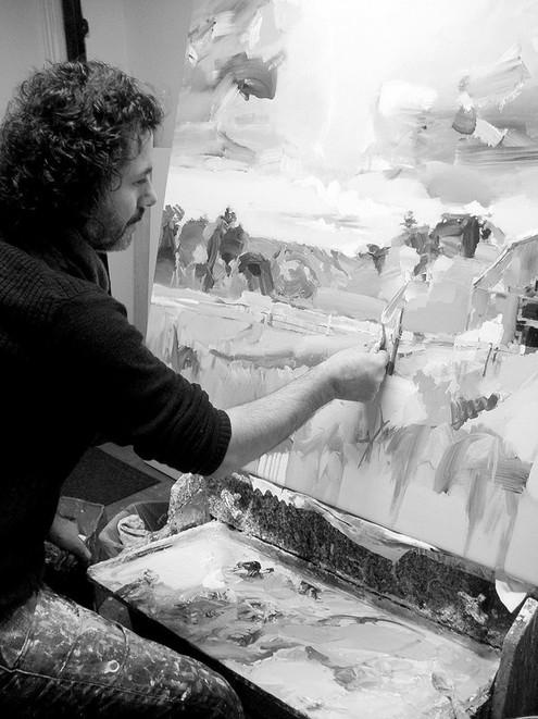 Josef Kote in his studio