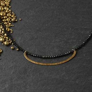 Black Garnet Full Necklace with Half Oval (n-8b2f).jpg
