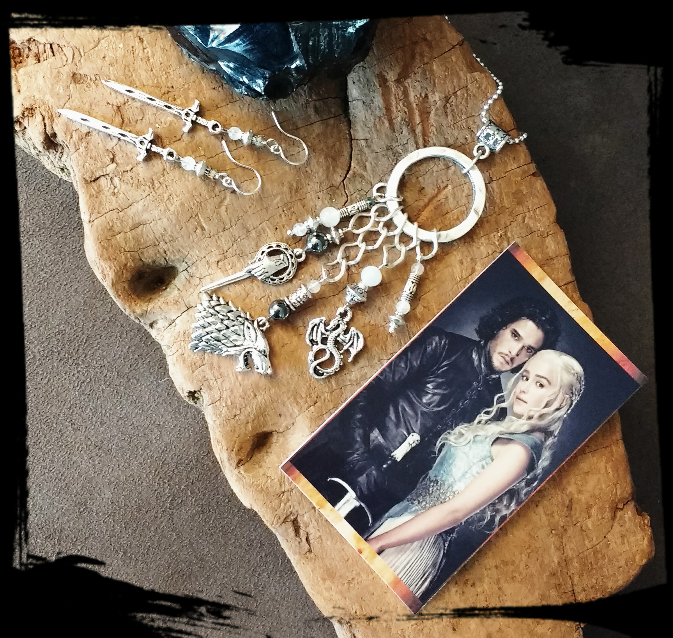 Game of thrones necklace and earrings.jpg