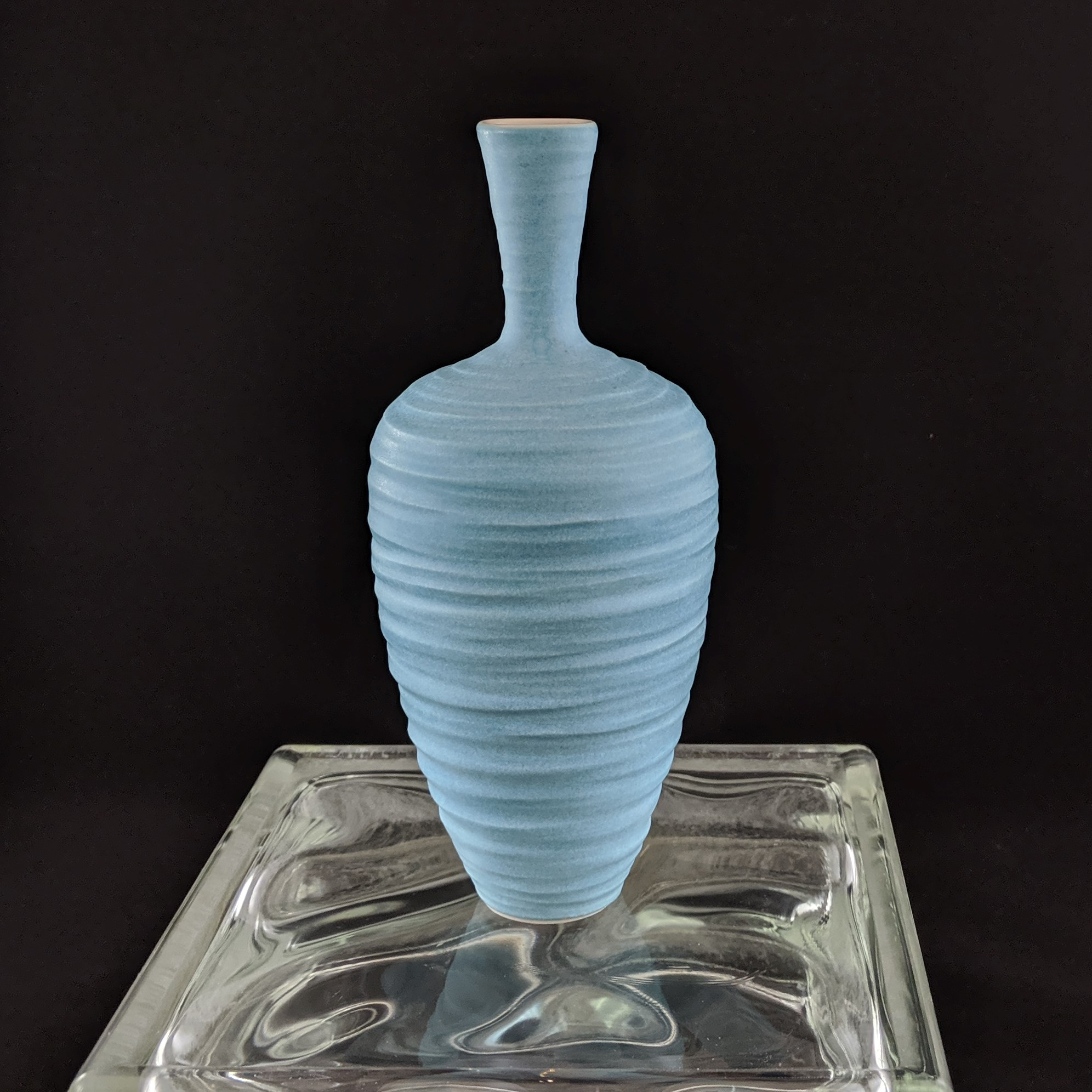 Carved Turquoise Wine Vase 8.5in a.jpg