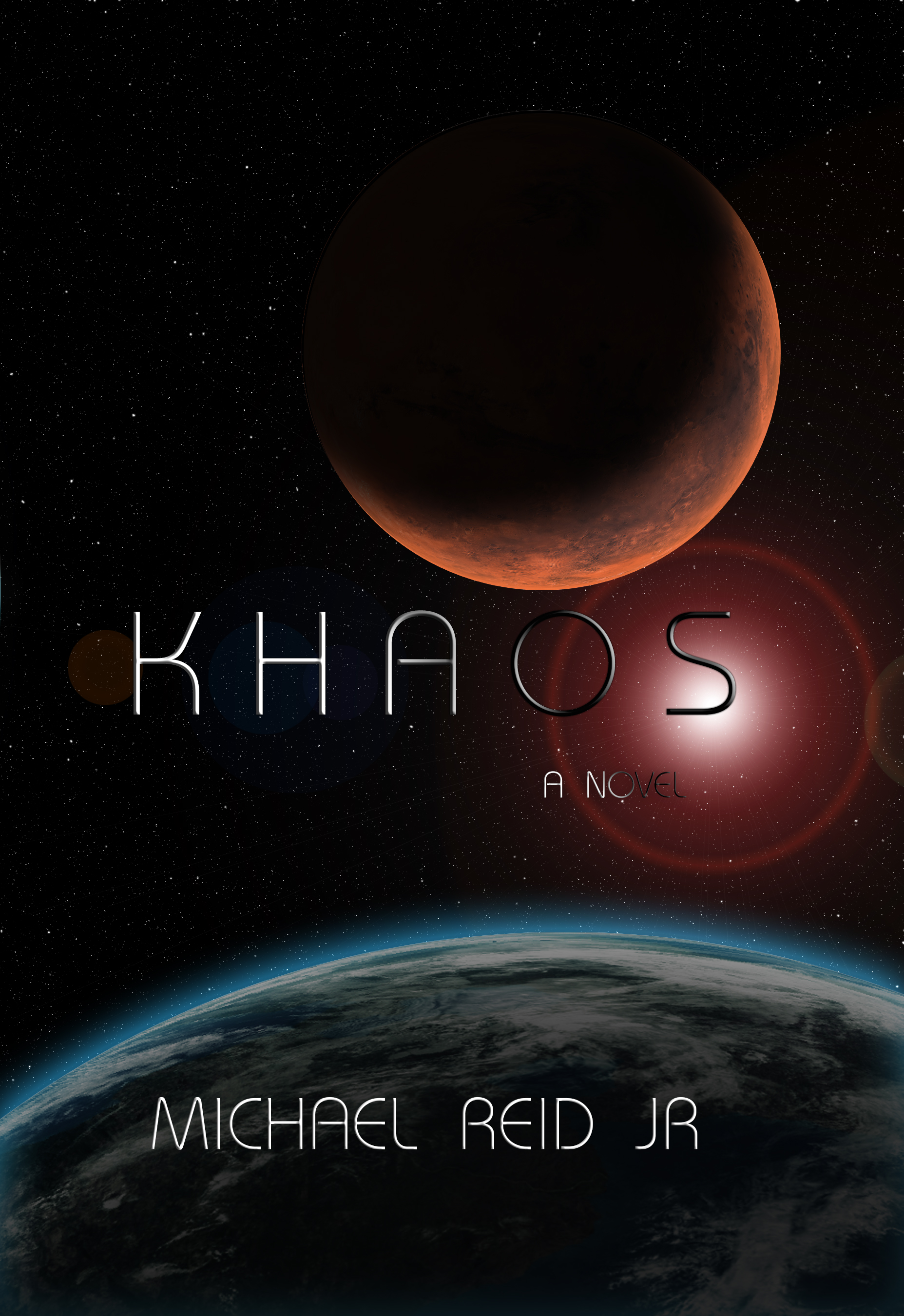 Billions around the world celebrated Khaos when it was finally revealed, awestruck by the rogue planet entering our solar system. However, for a small group of individuals, it was apocalyptic. Dr. Peels had predicted the path of the celestial body, warning the governments of the world that a near miss was likely. Still, no government had listened, citing other predictive models as the most likely path.  In secret, Dr. Peels built a cooperative effort between private industry, lobbied congress and passed laws, ensuring his veiled plans could unfold. Quickly, humanity began to crumble, coups ensued, and anarchy took hold. Dr. Peels was forced to launch his hand-picked crew early, but things quickly fell apart before the mission began. As the vulnerable crew raced towards Mars, the one thing which held them together wasn't human, it was an android named Omega, tasked to learn all it can before it's too late. It's a race against time, gravity, and the laws of nature in this Khaotic story of salvation.