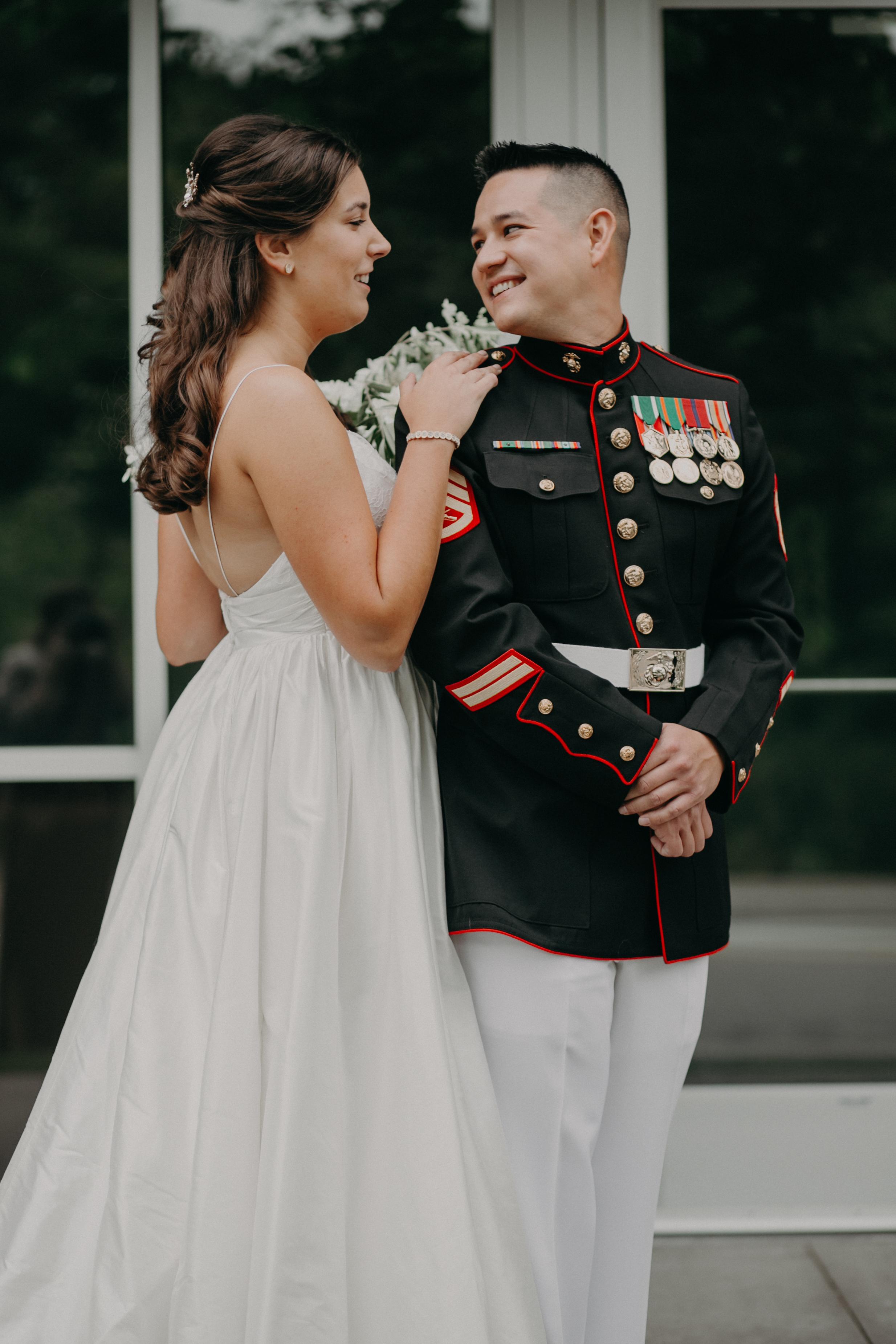 first look at Hotel Landing in Wayzata during lakeside wedding