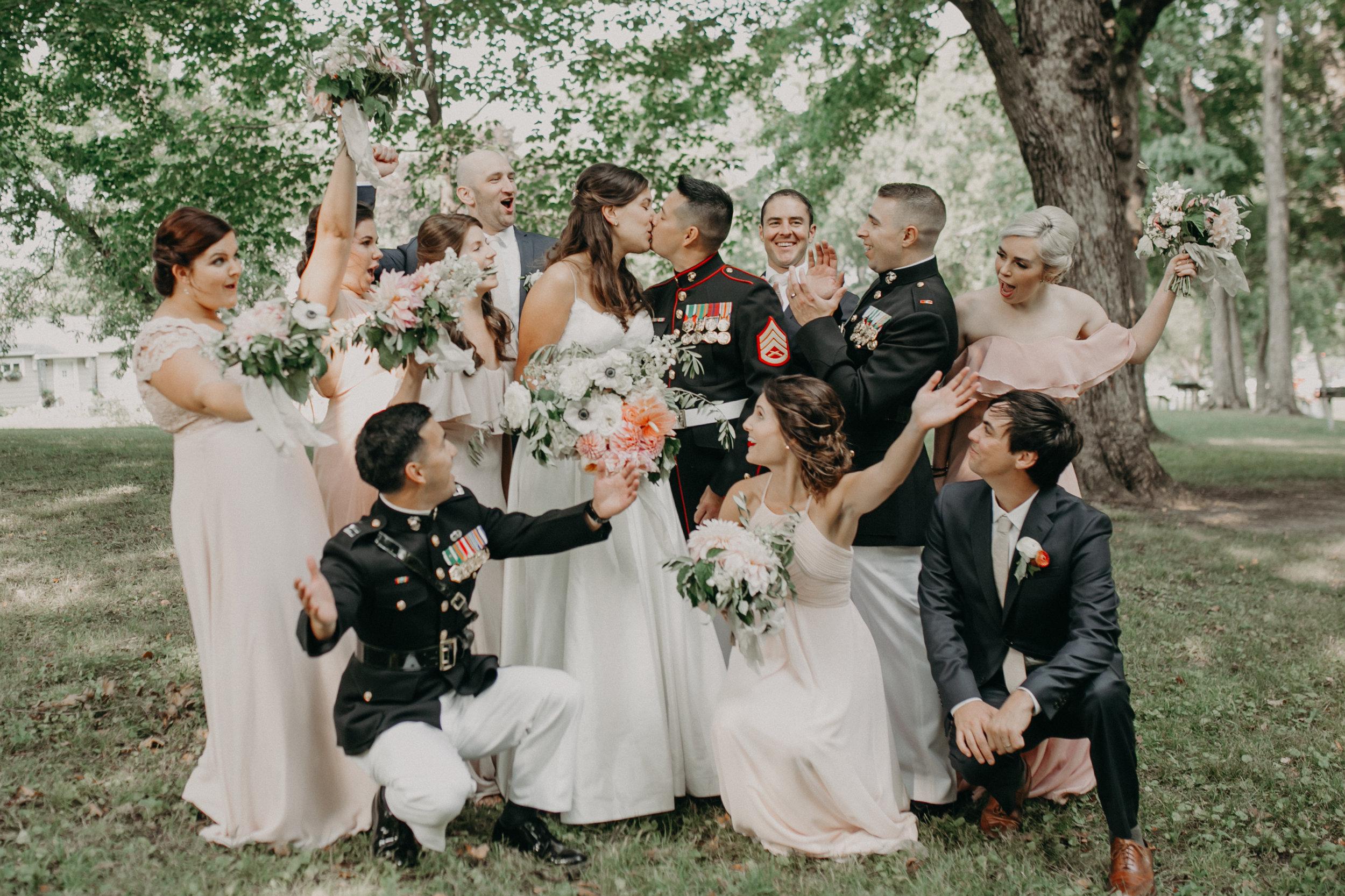 bridal party at a Lake Minnetonka wedding in Wayzata MN