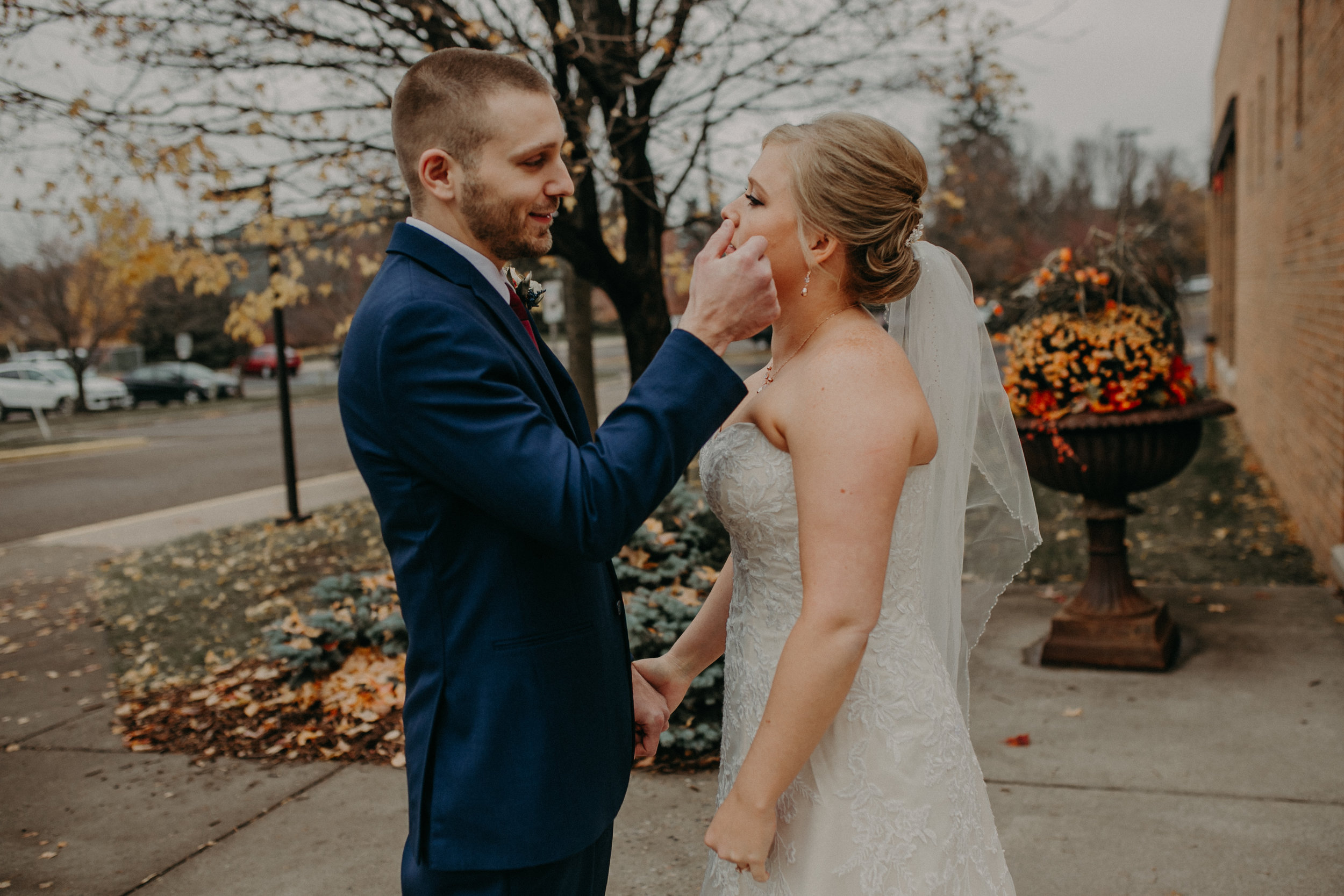 bride-groom-crying-first-look-river-falls-wedding