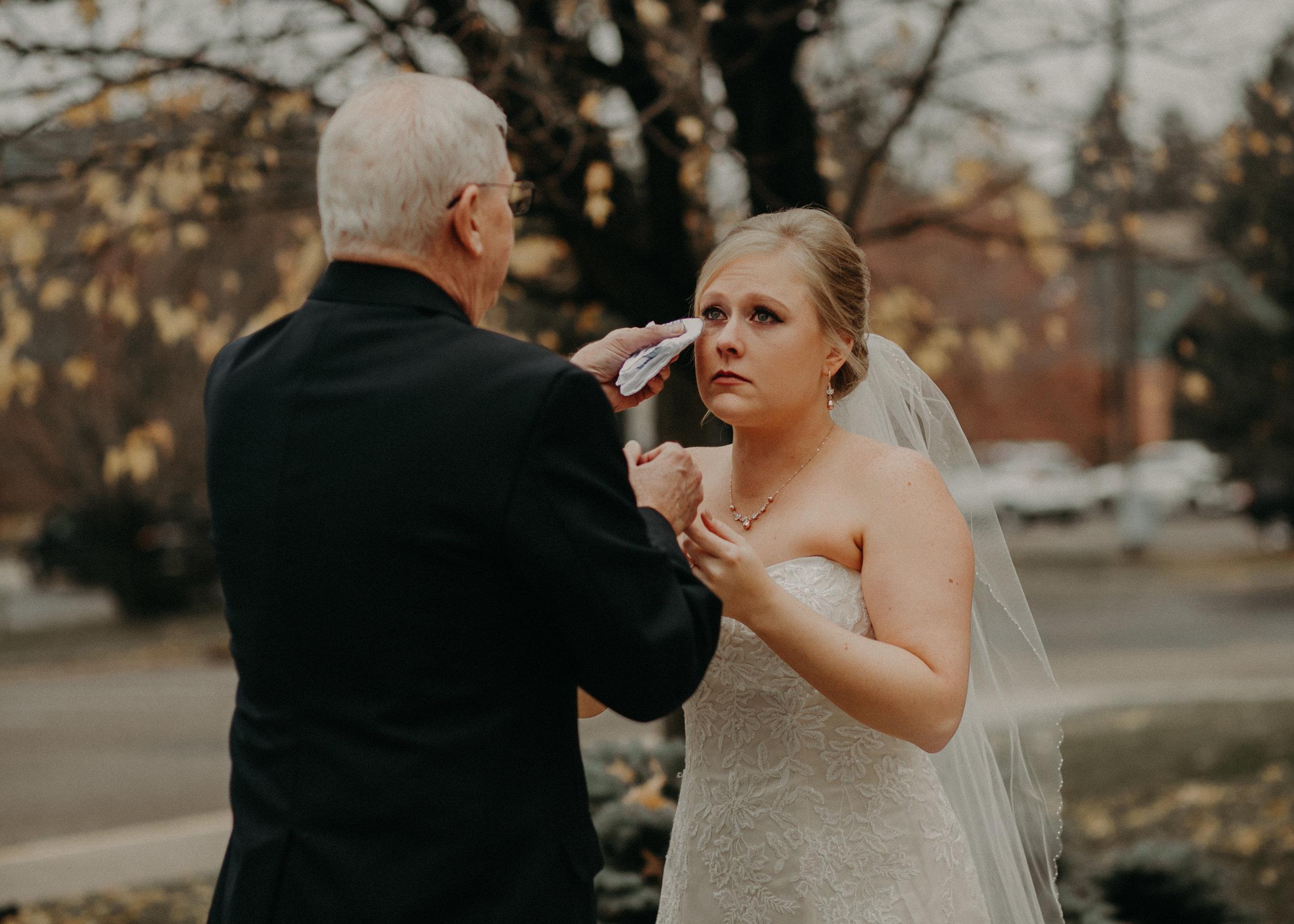 grandpa-crying-bride-catholic-church-river-falls-wedding
