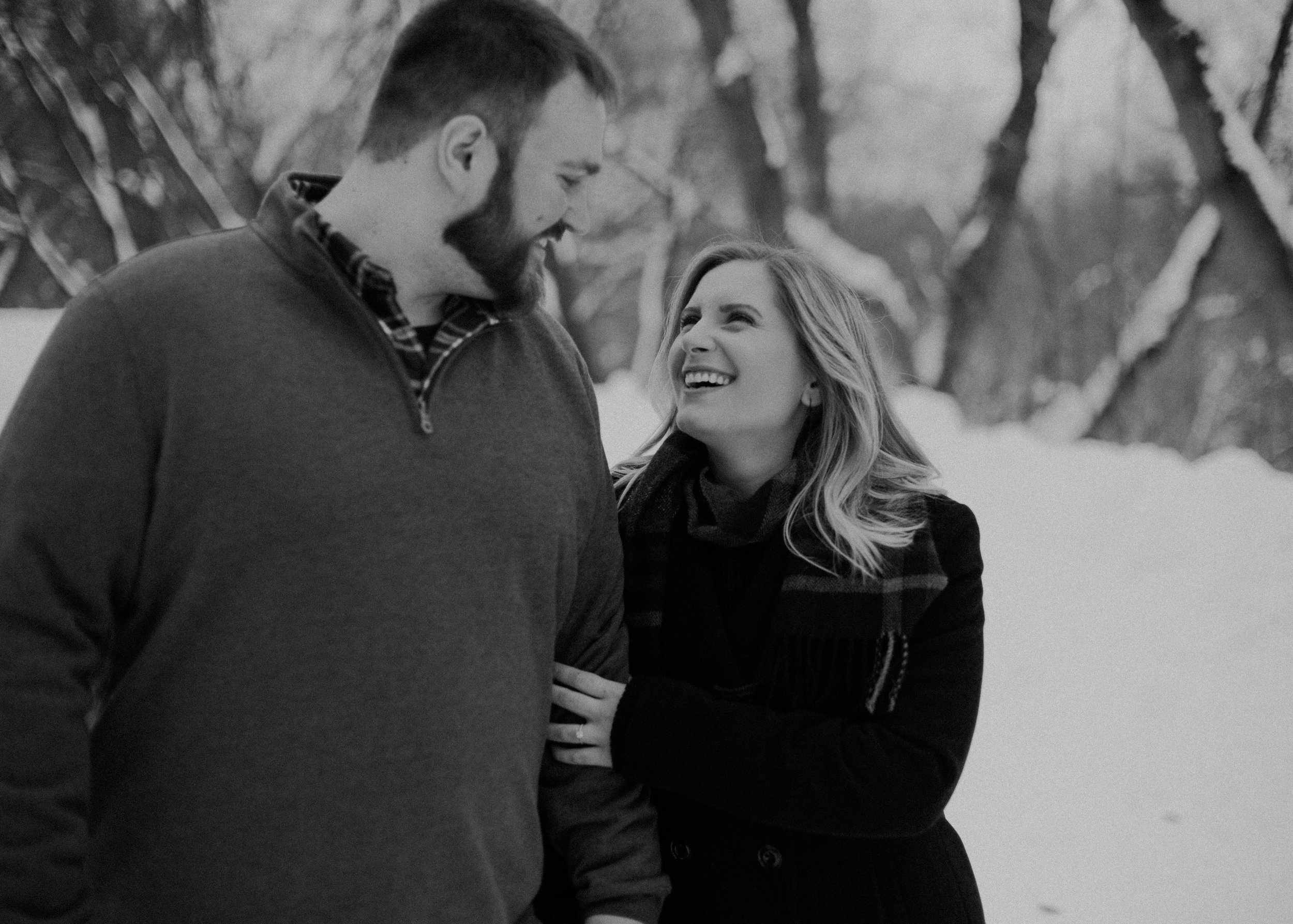 winter wonderland engagement session in Athens WI in February