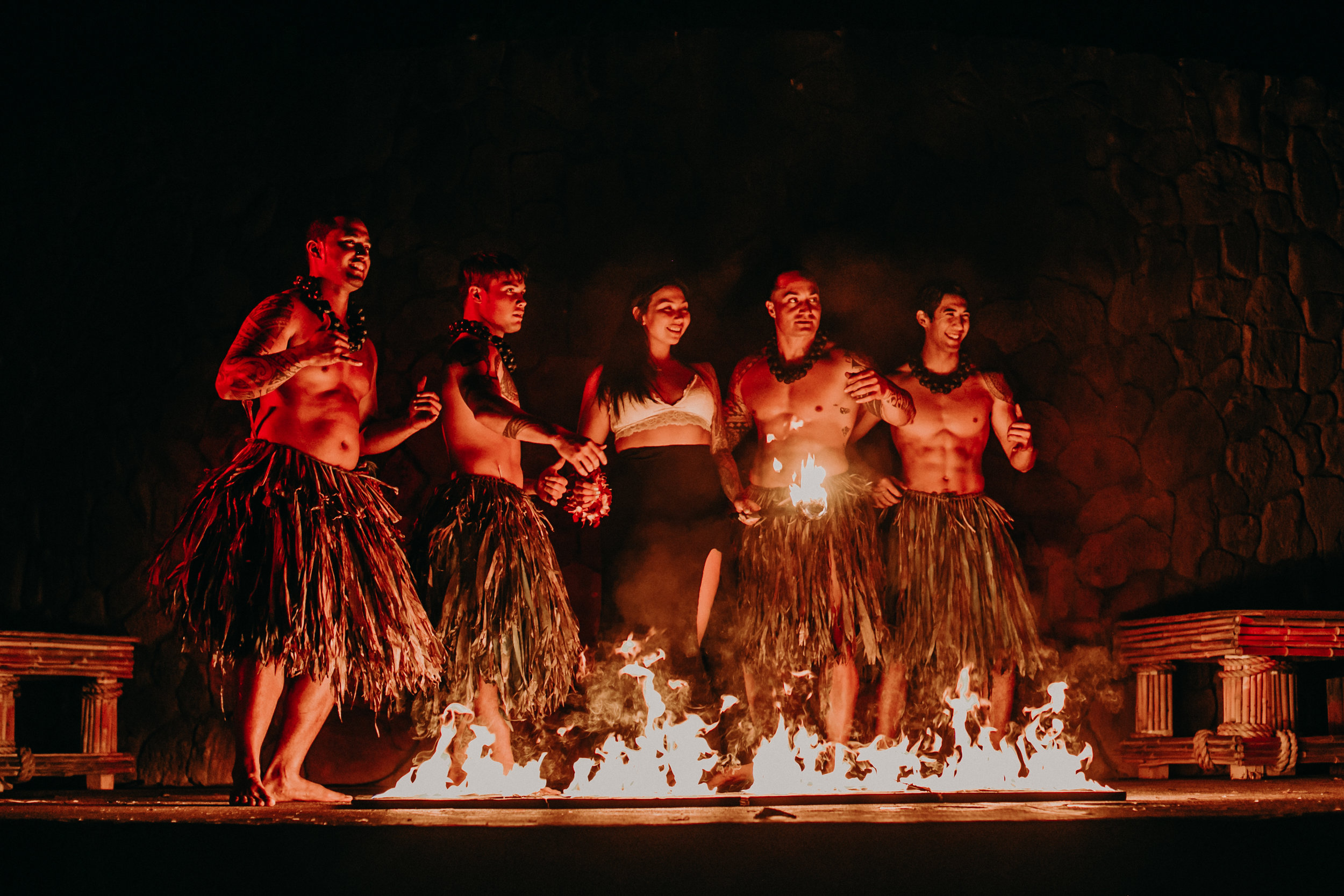 The Grand Luau at Honua'lua after dark show
