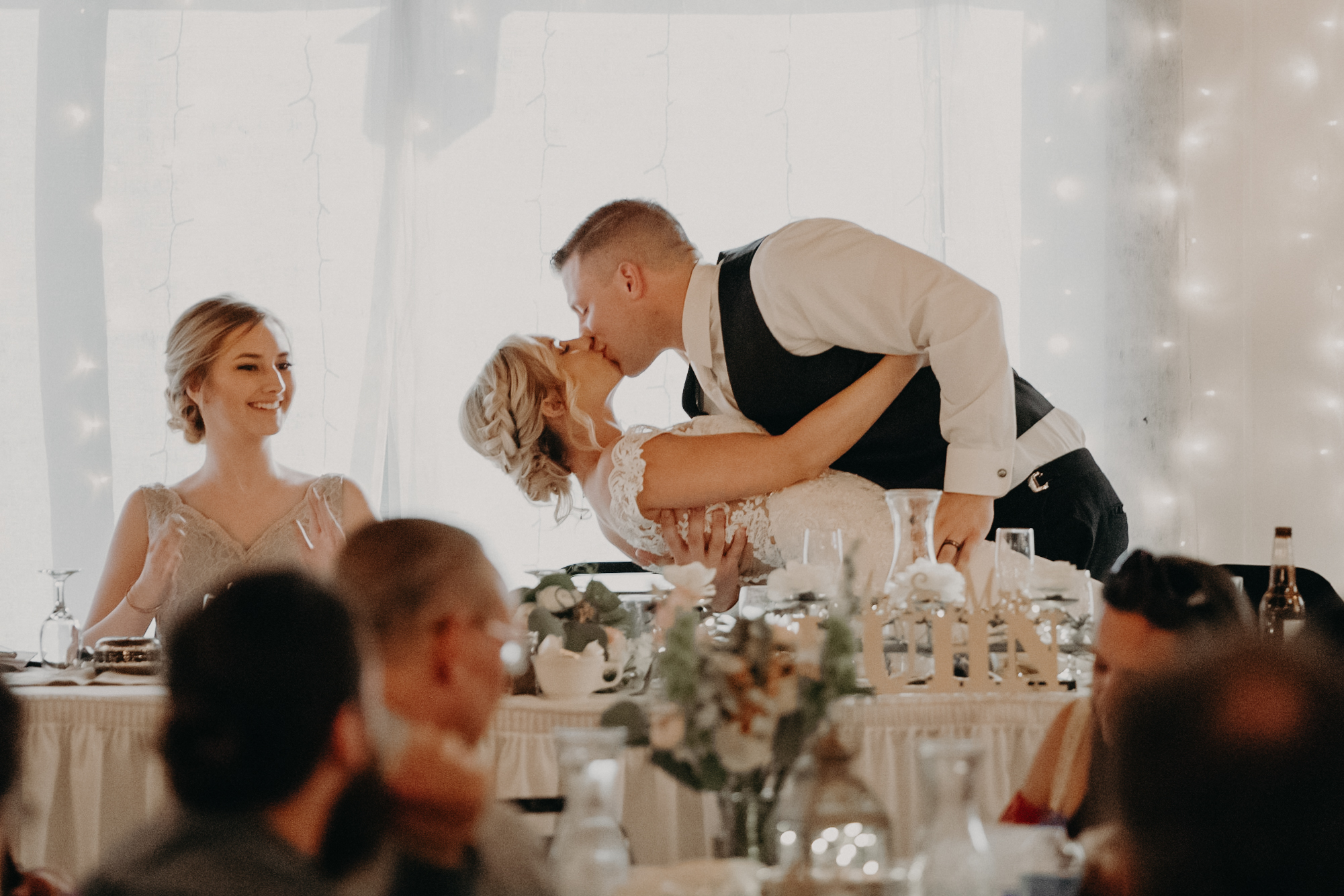 RiverEdge Golf Club wedding reception by Andrea Wagner Photography